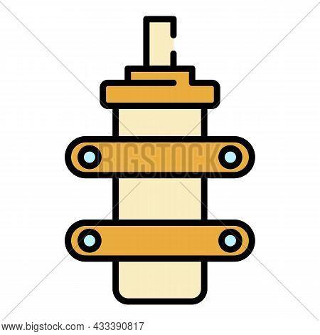 Electric Condensator Icon. Outline Electric Condensator Vector Icon Color Flat Isolated