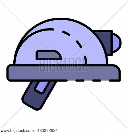 Architectural Helmet Icon. Outline Architectural Helmet Vector Icon Color Flat Isolated