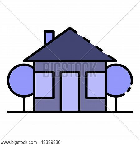 Urban House Icon. Outline Urban House Vector Icon Color Flat Isolated