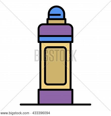 Toilet Cleaner Bottle Icon. Outline Toilet Cleaner Bottle Vector Icon Color Flat Isolated