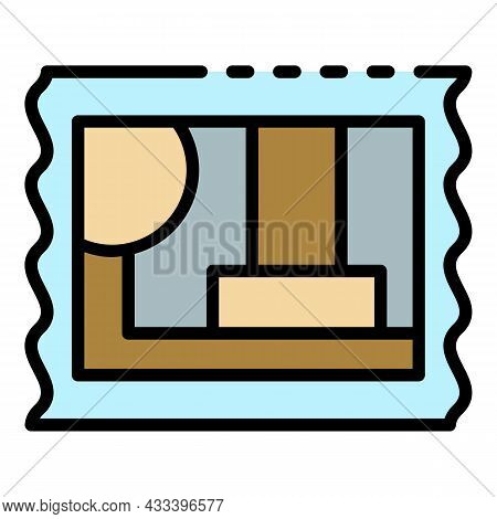 Post Timbre Icon. Outline Post Timbre Vector Icon Color Flat Isolated