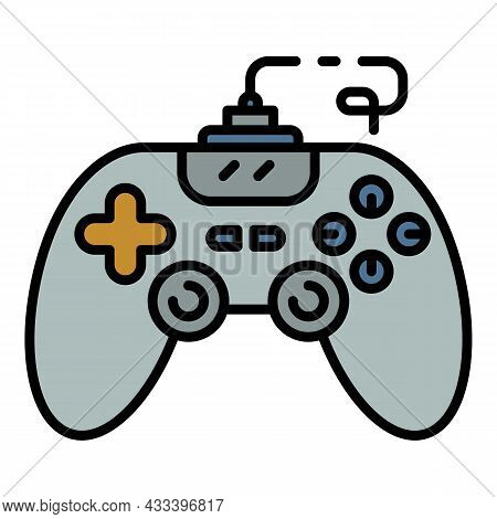 Joystick Icon. Outline Joystick Vector Icon Color Flat Isolated
