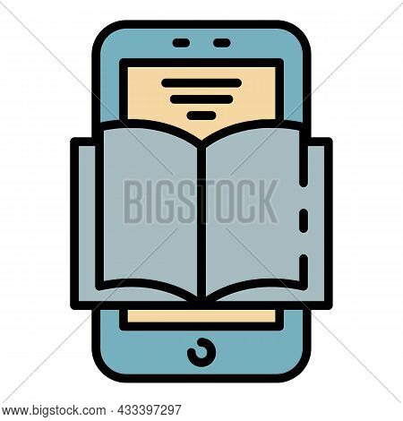Interactive Learning Icon. Outline Interactive Learning Vector Icon Color Flat Isolated