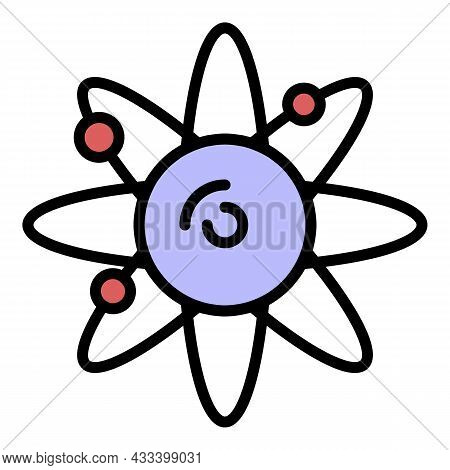 Solar System Icon. Outline Solar System Vector Icon Color Flat Isolated