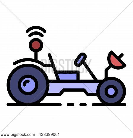 Moon Rover Icon. Outline Moon Rover Vector Icon Color Flat Isolated