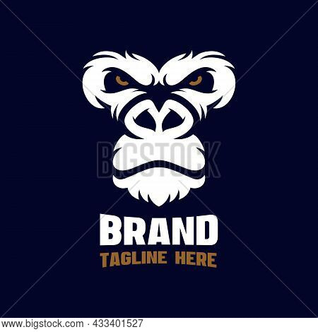 Angry Gorilla Modern As An Example Logo. Vector Illustration