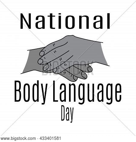 National Body Language Day, Idea For Poster, Banner Or Postcard, Non-verbal Gestures Vector Illustra