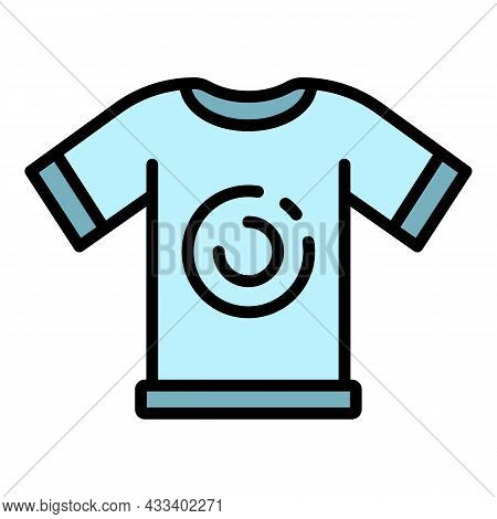 Cycling Tshirt Icon. Outline Cycling Tshirt Vector Icon Color Flat Isolated