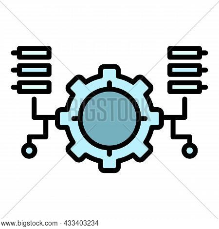 Ai Gear Program Icon. Outline Ai Gear Program Vector Icon Color Flat Isolated