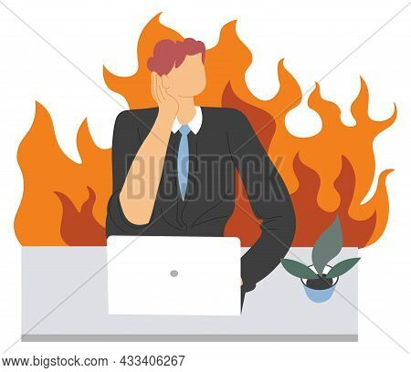 Office Stress And Anger, Work Problem And Troubles