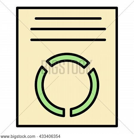 Corporate Diagram Paper Icon. Outline Corporate Diagram Paper Vector Icon Color Flat Isolated