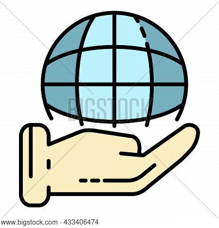Keep Global Corporate Icon. Outline Keep Global Corporate Vector Icon Color Flat Isolated