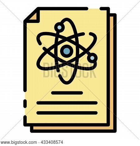 Laboratory Documentation Icon. Outline Laboratory Documentation Vector Icon Color Flat Isolated