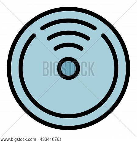 5g Signal In The Circle Icon. Outline 5g Signal In The Circle Vector Icon Color Flat Isolated