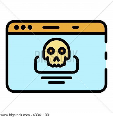 Hacking Alert Icon. Outline Hacking Alert Vector Icon Color Flat Isolated