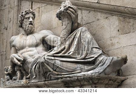 Statue Of Tiber For Palazzo Senatorio, Rome