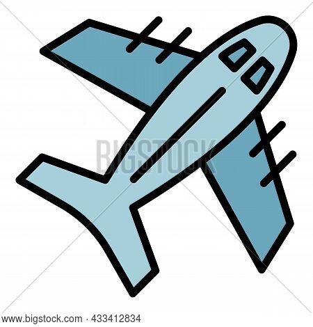Air Export Icon. Outline Air Export Vector Icon Color Flat Isolated