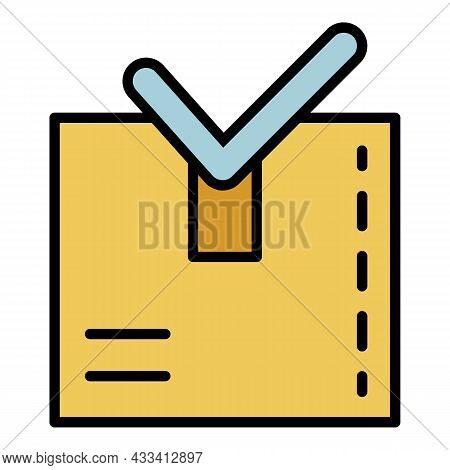 Item Ready To Ship Icon. Outline Item Ready To Ship Vector Icon Color Flat Isolated