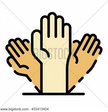 Alzheimer Hand Icon. Outline Alzheimer Hand Vector Icon Color Flat Isolated