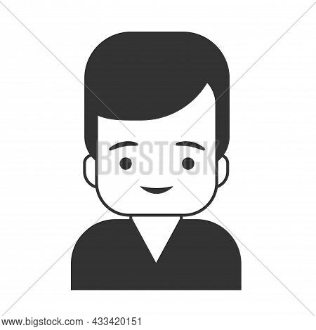 User Icon - Men In Flat Style, Human And Business Men Icon, User Icon For Website, User Icon Vector