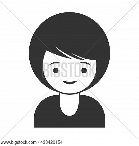 User Icon - Women In Flat Style, Man And Business Woman Icon, User Icon For Website, User Icon Vecto
