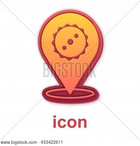 Gold Circular Saw Blade Icon Isolated On White Background. Saw Wheel. Vector