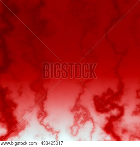 Blood Vessels Of The Body, Close-up. The Red Blood Vessel Of A Human. Concept Of Medicine And Anatom