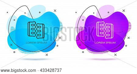 Line Toe Separator For Pedicure Icon Isolated On White Background. Abstract Banner With Liquid Shape