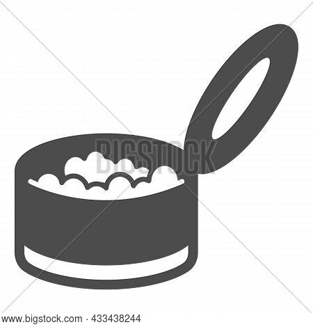 Canned Cat Food, Pet Nutrition, Preserves Solid Icon, Pets Concept, Meal, Treat Vector Sign On White