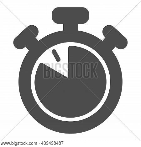 Stopwatch With Buttons, 50 Seconds, Timer, Chronometer Solid Icon, Time Concept, Clock Vector Sign O