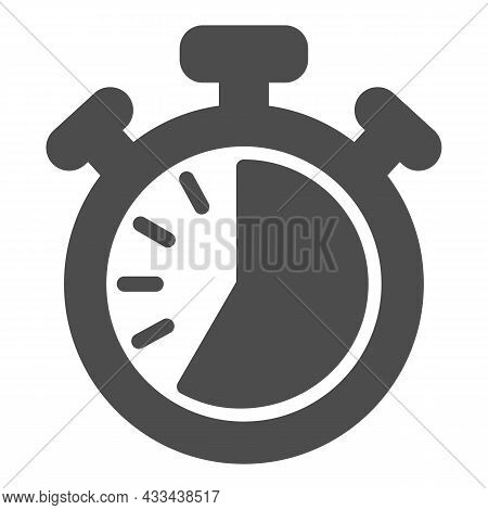 Stopwatch With Buttons, 35 Seconds, Timer, Chronometer Solid Icon, Time Concept, Clock Vector Sign O