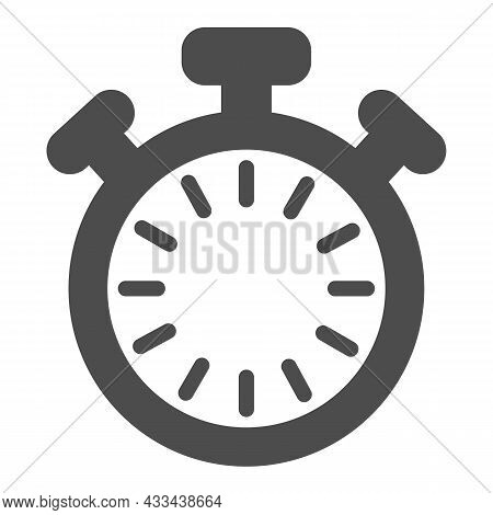 Stopwatch With Buttons And Dial Without Hands, Timer Solid Icon, Time Concept, Clock Vector Sign On