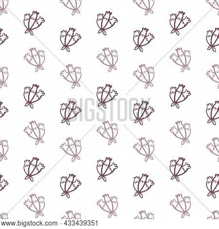 Victorian Botanical Seamless Vector Background. Vintage Pattern Of Exotic Foliage For All Over Print