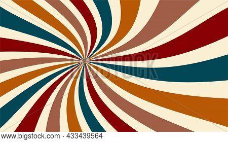 Retro Sunburst Background Or Starburst Background In Jewel Tones Of Teal Blue Burgundy Red Brown Ora