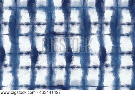 Shibori pattern background in indigo blue color
