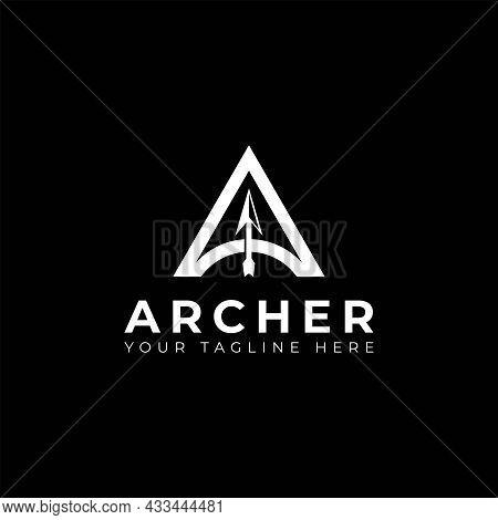 Letter A Archer Arrow Logo Vector Icon Illustration