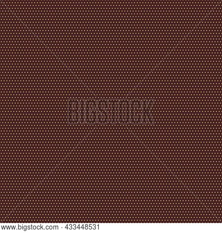 Seamless Geometric Vector Pattern. Modern Brown And Golden Ornament With Dotted Elements. Geometric