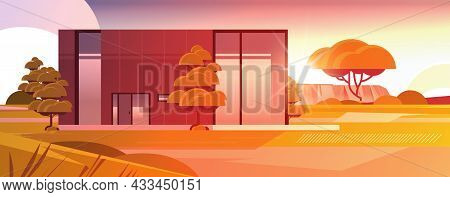 Modern House Of Sandwich Panels With Panoramic Windows Environmentally Friendly Home Building Modula