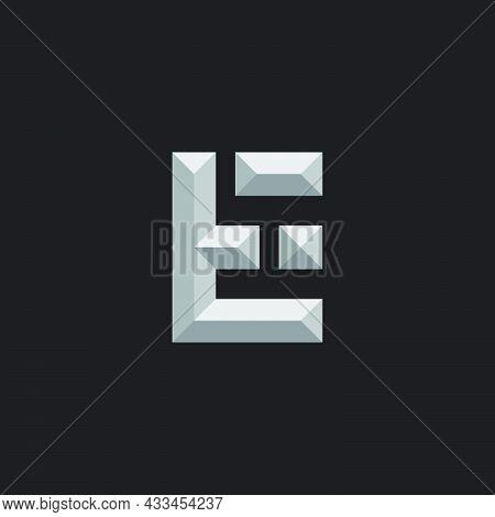 Letter Et 3d Gradient Shadow Logo Vector