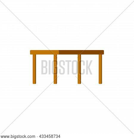 Wooden Table, Furniture For Garden, Home Kitchen, Terrace Or Backyard.
