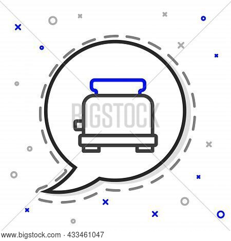 Line Toaster Icon Isolated On White Background. Colorful Outline Concept. Vector