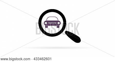 Search And Buy Your Favorite Car. Search Cars In Internet. Search Car Icon.