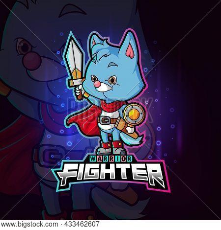 The Fighter Cat Esport Mascot Design Of Illustration