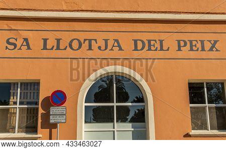 Palma De Mallorca, Spain; September 10 2021: Main Facade Os Sa Llotja Del Pez In The Port Area Of Th