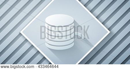 Paper Cut Plastic Filament For 3d Printing Icon Isolated On Grey Background. Paper Art Style. Vector