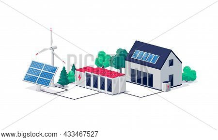 Smart Virtual Battery Energy Storage With House And Renewable Solar Wind Power