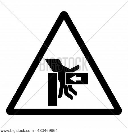 Hand Crush Force From Right Symbol Sign, Vector Illustration, Isolate On White Background Label .eps