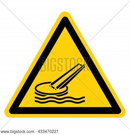 Marine Evacuation Slide Symbol Sign, Vector Illustration, Isolate On White Background Label. Eps10
