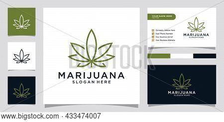Cannabis Leaf Logo For Medical And Pharmaceutical. Marijuana Logo Design Vector.