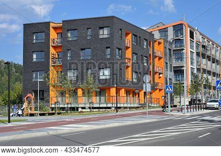 Vilnius - September 09: Modern Residential Apartment House, Home Building Complex On September 09, 2